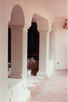 Bespoke Fluted Pilaster, Arches and Mouldings